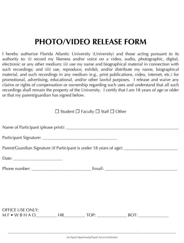 photo release form pdf