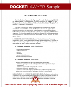 photography contract pdf sample non disclosure agreement form template