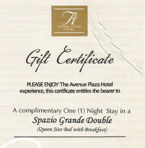 photography gift certificate avenue plaza hotel gc giveaway