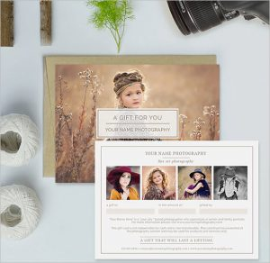 photography gift certificate photography gift certificate template download
