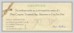 photography gift certificate template small gift certificate for