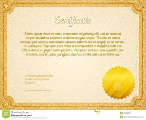 photography gift certificate template vector retro frame certificate template golden seal