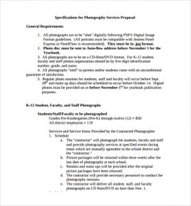 photography proposal template photography services proposal