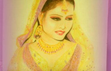 photos to pencil sketches bridal sketch in soft pencil and color pencil