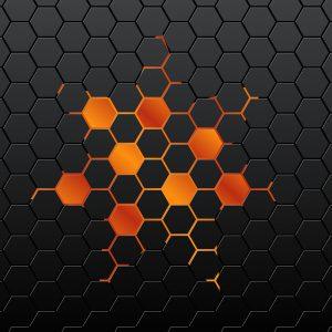 photoshop calendar template black hexagon background vector