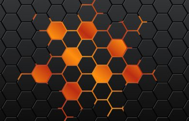 photoshop calendar template black hexagon background vector