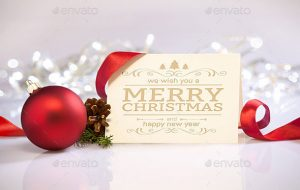 photoshop christmas cards templates christmas psd mockups
