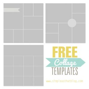 photoshop collage template templates