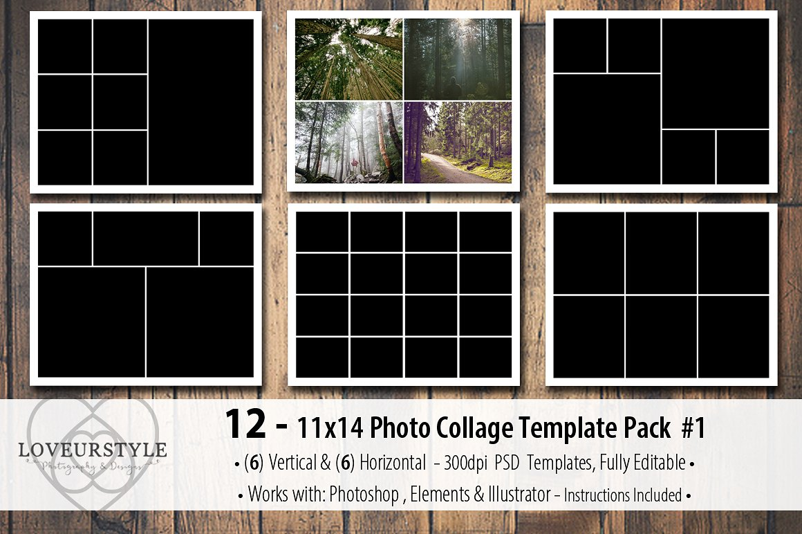photoshop collage templates