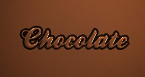 photoshop logo templates psd chocolate text effect type font caracter caligraphic d