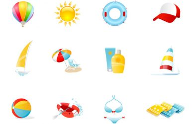 photoshop water brushes beach icons psd and png pack