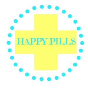 pill bottle label happy pills tag