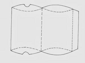 pillow box template box template