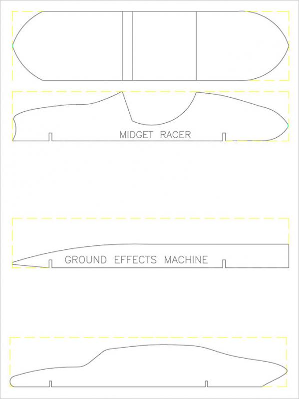 Pinewood Derby Car Templates  Template Business