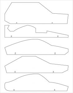 pinewood derby template pinewood derby car free
