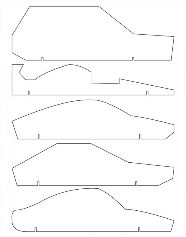 Pinewood derby template template business for Free templates for pinewood derby cars