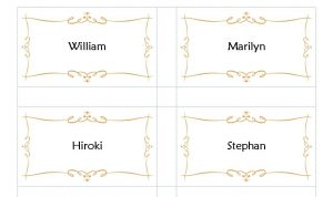 place card template avery place card template
