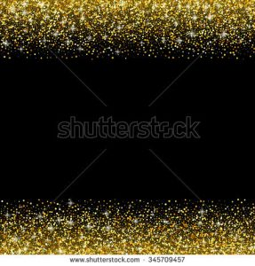 place card templates stock photo black background with gold glitter sparkle greeting card template