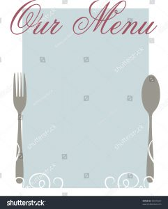 plain menu template stock photo an elegant blank menu template