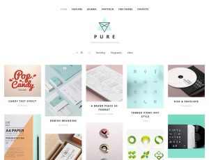 plain menu templates pure free portfolio wordpress theme