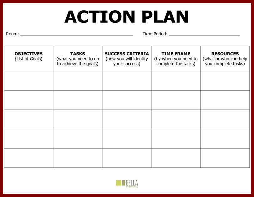 Plan Of Action Template  Template Business