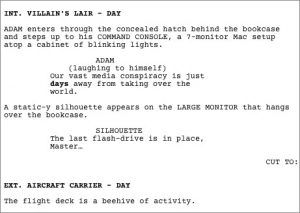 play script template sample screenplay formatted snippet