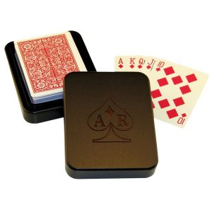 playing card box custom wooden playing card box dark wood