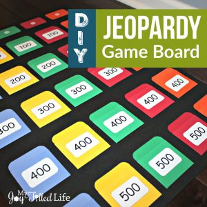 playing card templates jeopardy board square