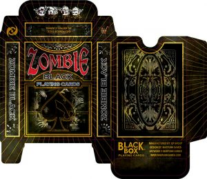 playing cards template zombie black tuck box web