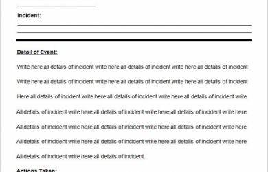 police report example sample police report template word