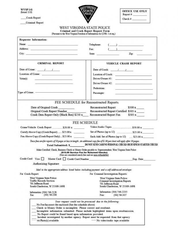 Police Report Sample  Template Business