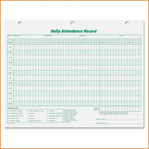 policy memo sample attendance record template tops daily attendance record form