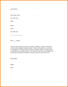 policy memo sample layoff letter template layoff notice letter template