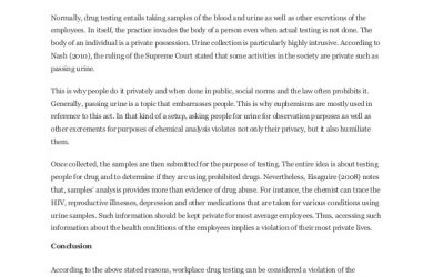 policy memo sample sample essay on drug testing at work place