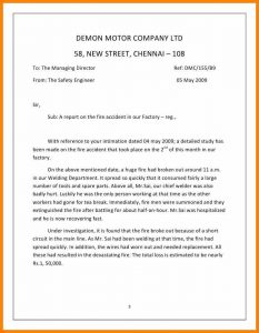 policy memo sample short report example report on the fire accident cb