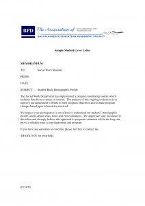 policy memo sample social work student cover letter