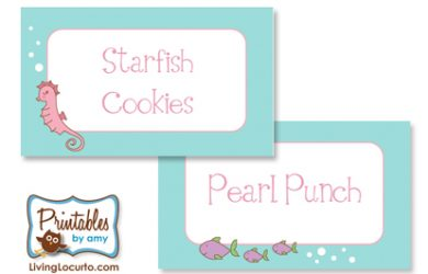 pool party invitation templates food labels mermaid