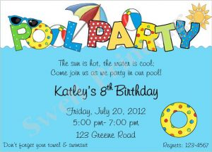 pool party invite template birthday pool party invitation template