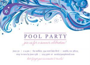 pool party invite template design