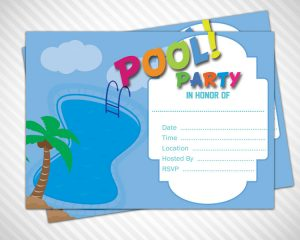 pool party invite template pool party invitation template slide