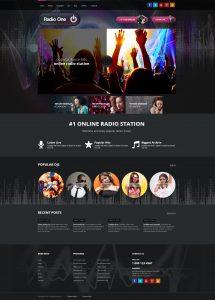 portfolio website template radio one website on wordpress template