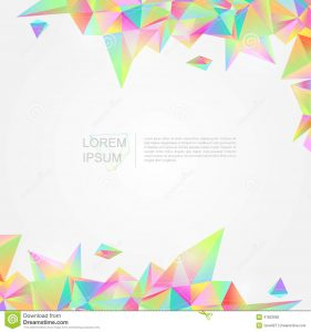 postcard design template colorful crystal background polygon abstrac abstract style create vector