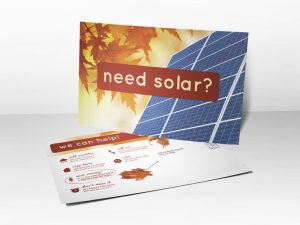 postcard design template need solar fall postcard