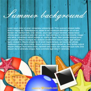 postcard design template summer background fun concept