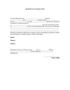 power of attorney example power of attorney template