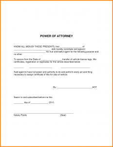 power of attorney example simple power of attorney letter template