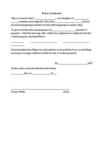 power of attorney form free printable m form