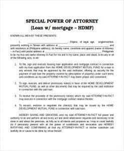 power of attorney template special power of attorney template