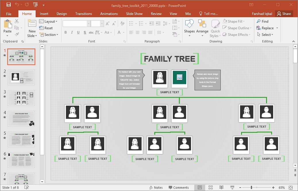 Free Editable Family Tree Template Word Acurnamedia