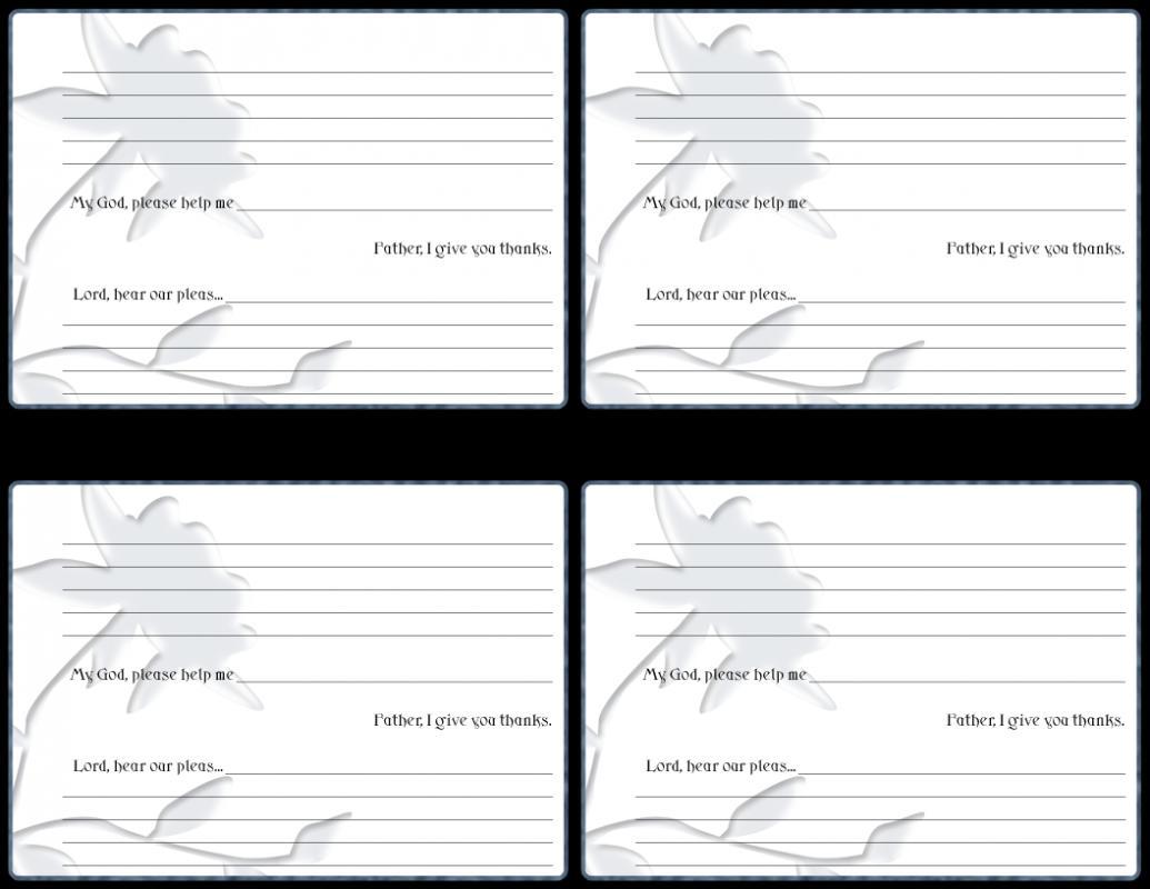 prayer card template